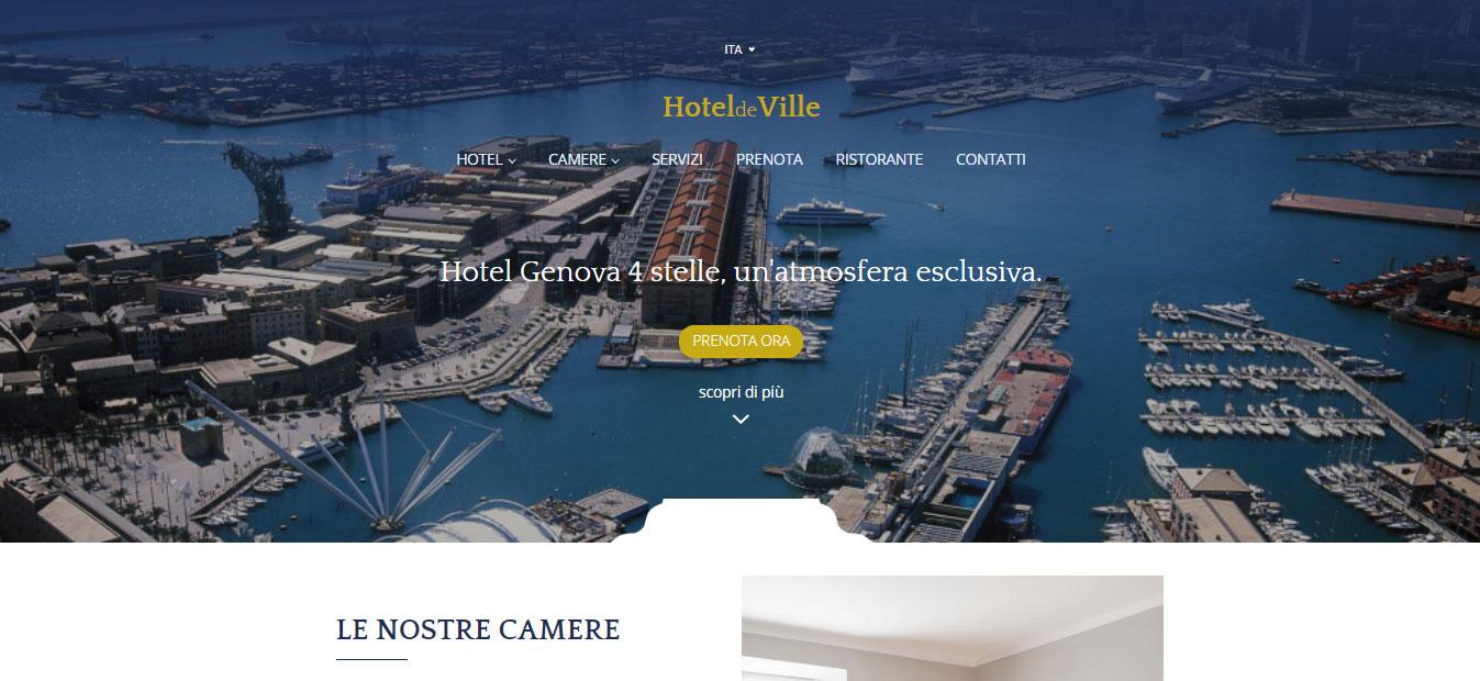 Hompage del sito hoteldeville.it