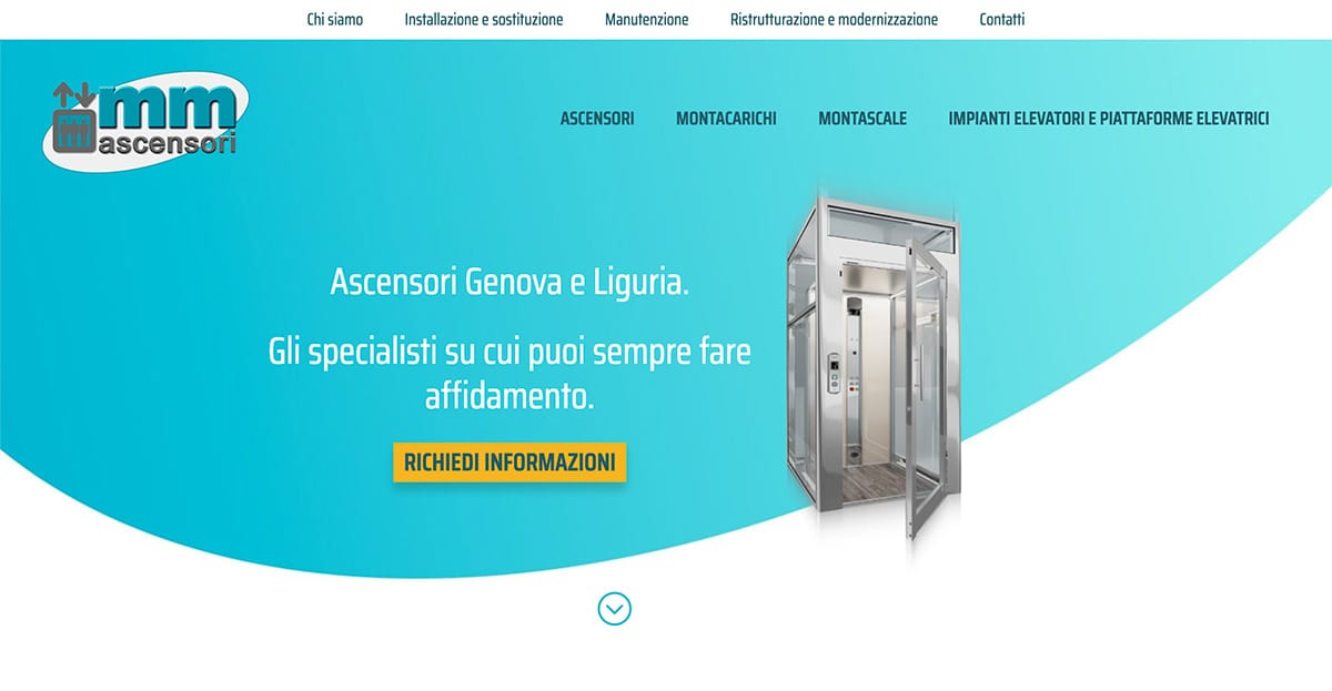 Hompage del sito mmascensori.it